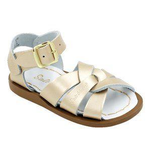 The Original Salt Water Sandals GOLD sz 9 Toddler